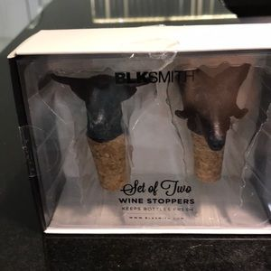 Gift Box Set of Two Black Bull Wine Stoppers